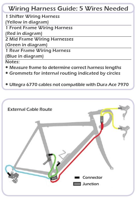 shimano ultegra di2 wiring diagram 34 wiring diagram Diagram Shimano Di2 How Many Wires for Di2 9070